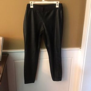 Black Gap faux leather pants